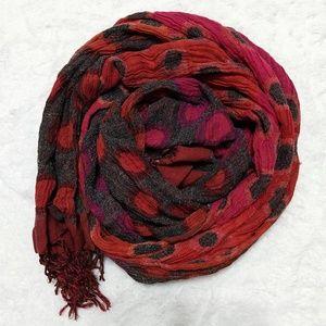 100% silk textured boho earth tones hippie scarf
